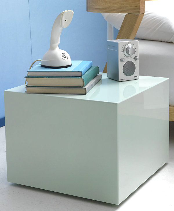 Mint lacquered side table
