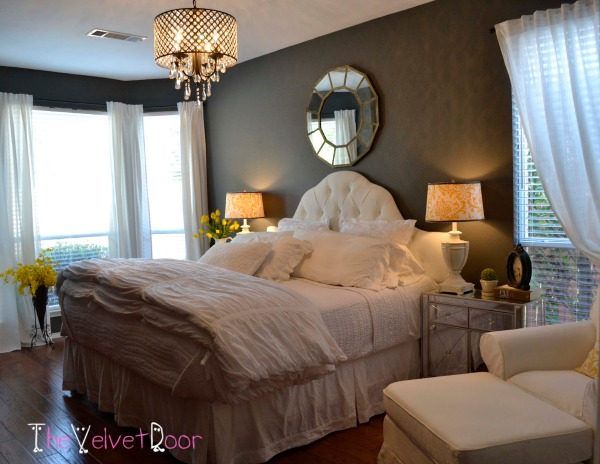 10 bedroom chandeliers that set the mood Modern chic master bedroom