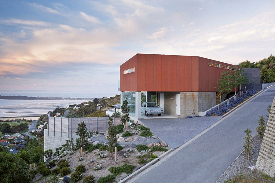 Modern house perched on a cliff with ocean views Stunning Ocean Views And An Open Interior Define The Redcliffs House