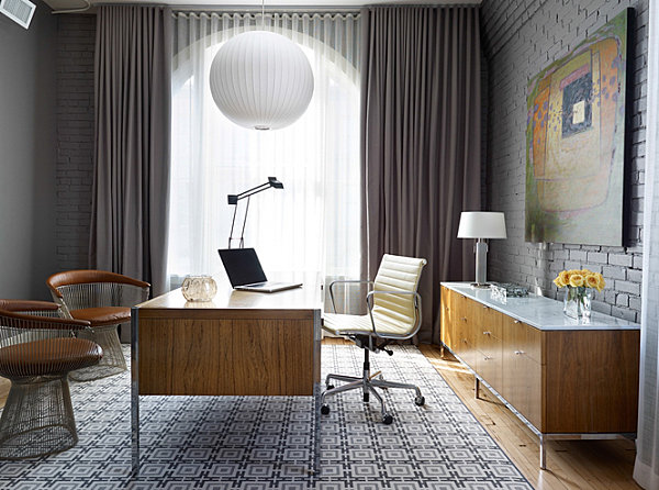 Modern loft in a home office
