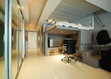 Modern-minimalist-loft-bed-with-a-stylish-work-area-underneath-217x155