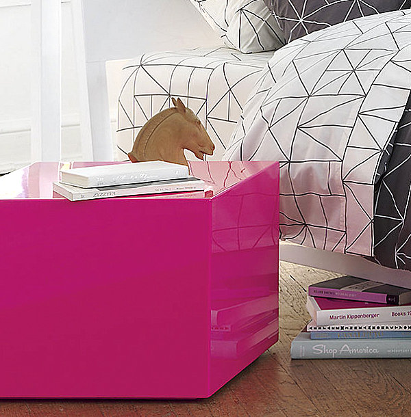 Neon pink side table