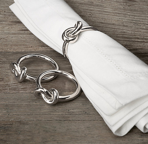 Nickel knot napkin rings