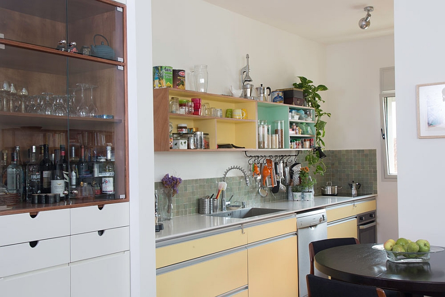 Painted cabinets in the kitchen