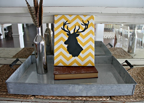 Painted deer head silhouette DIY
