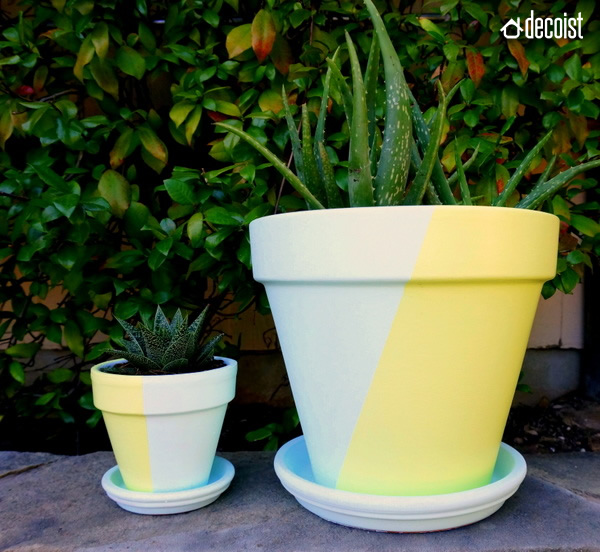 Two-tone Painted Pots, Fancy DIY Project
