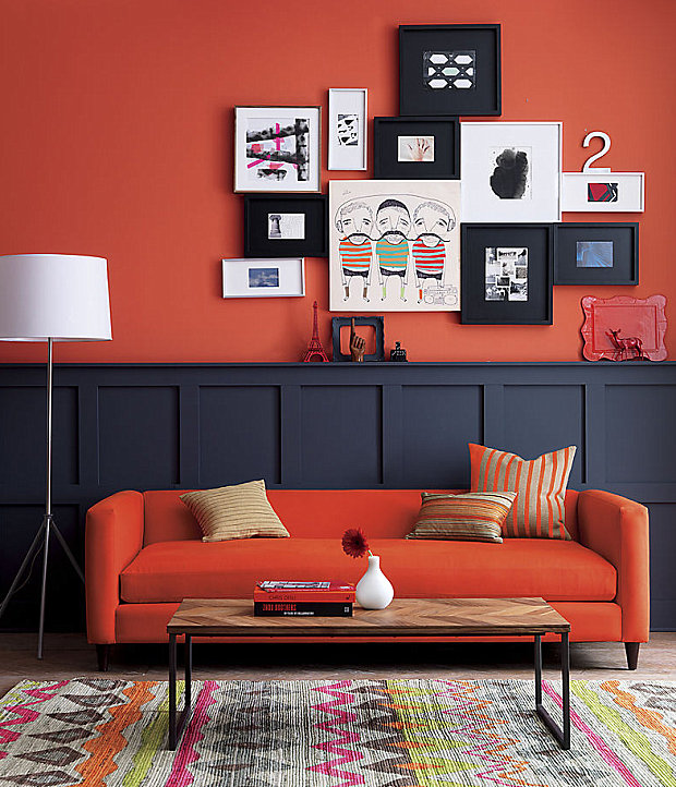Persimmon sofa
