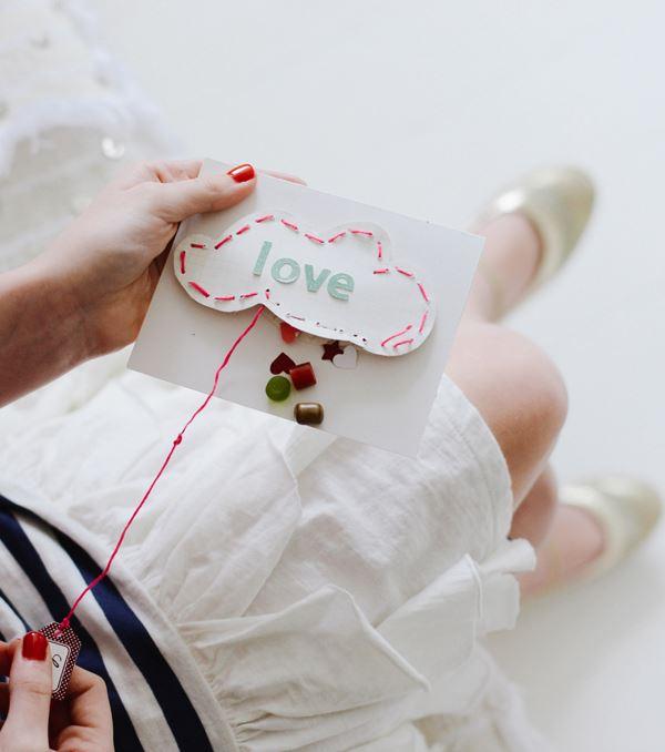 Pinata-themed Valentine's Day card
