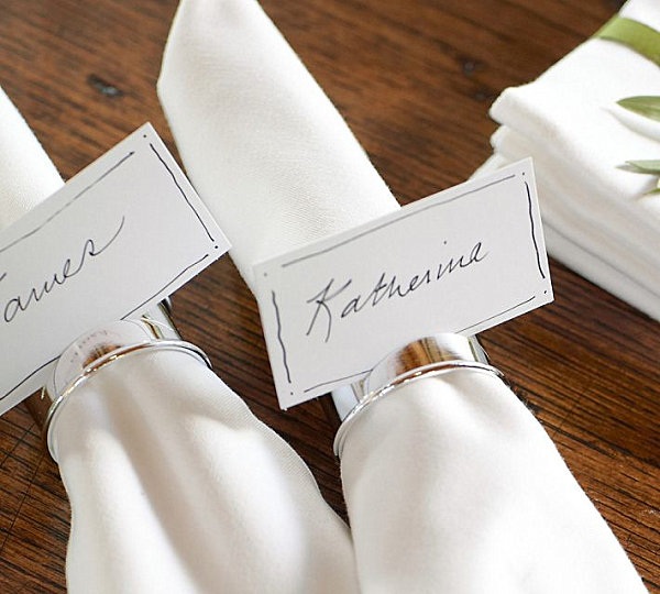 Place card holder napking rings