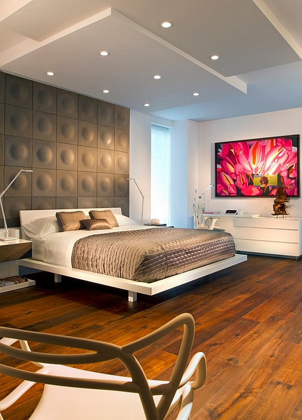 Play a little trick on your mind with this interesting accent wall