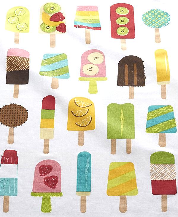Popsicle-motif dish towel