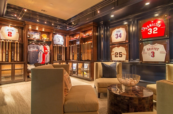 framed jerseys from sports themed teen bedrooms to sophisticated man