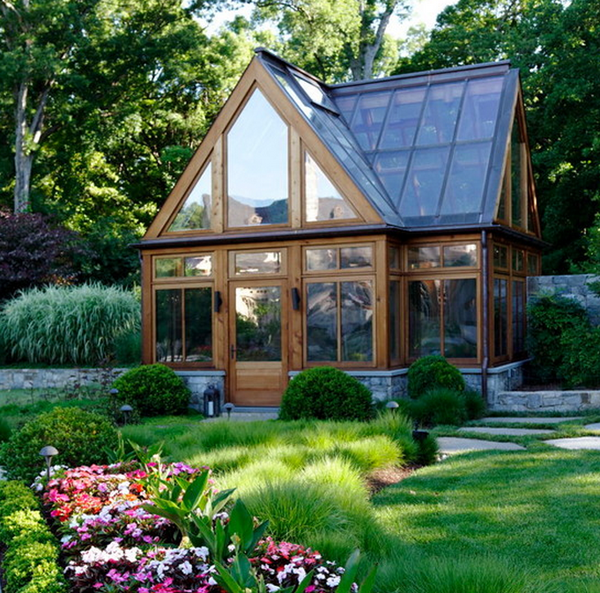 Rustic modern greenhouse decoist for Home garden greenhouse design