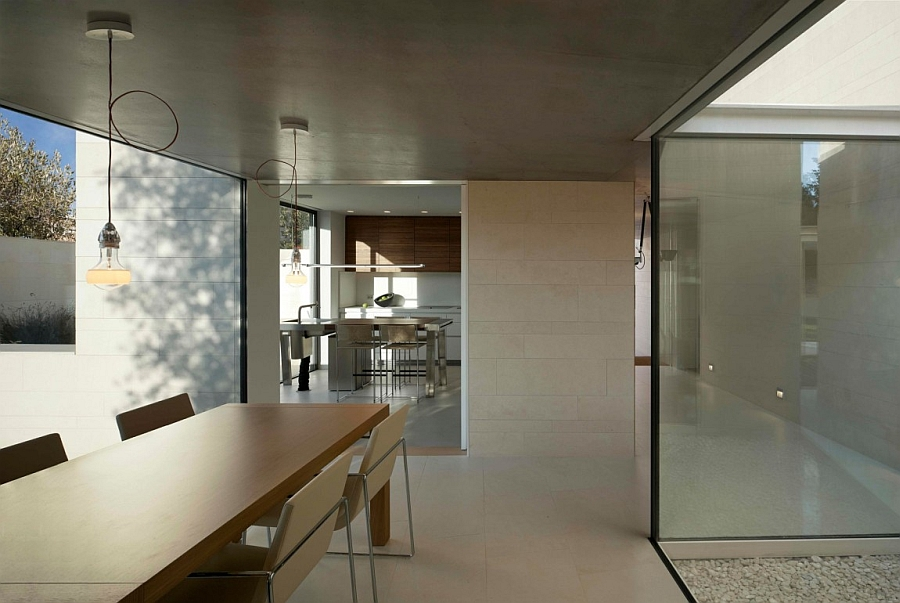 Smart dining area open to the outdoors