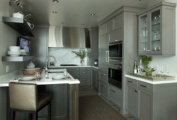 Stunning kitchen cabinets in cool gray