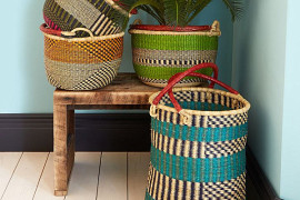 Stylish woven baskets