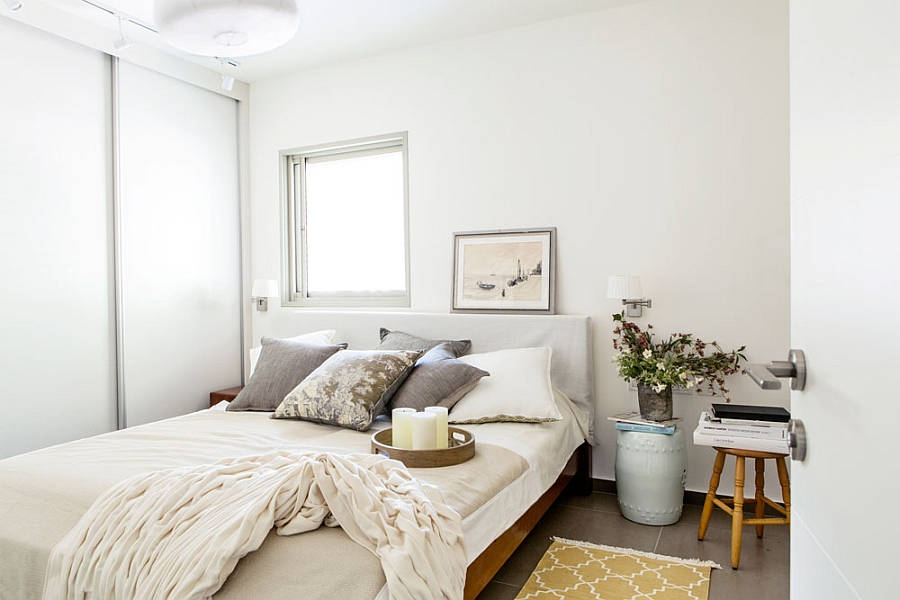 Tranquil master bedroom in white