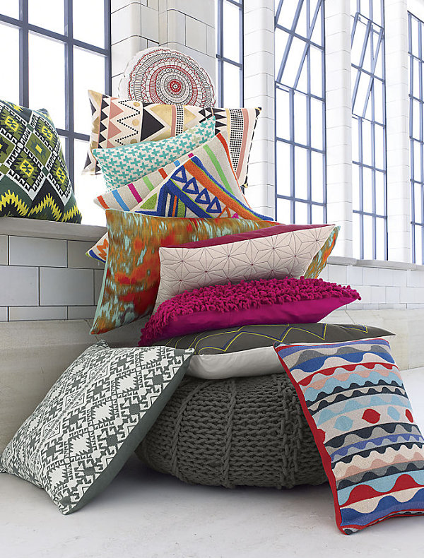 Tribal-style pillows from CB2