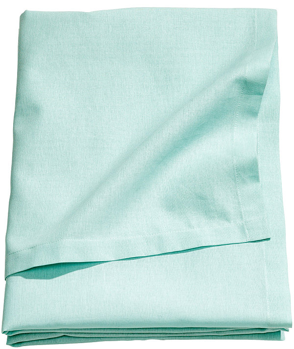 Turquoise cotton tablecloth