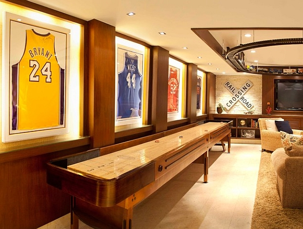 Unique collection of signed sports jerseys framed elegantly Framed Jerseys: From Sports Themed Teen Bedrooms To Sophisticated Man Caves!
