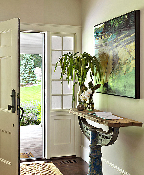 View In Gallery Unique Narrow Entryway Table