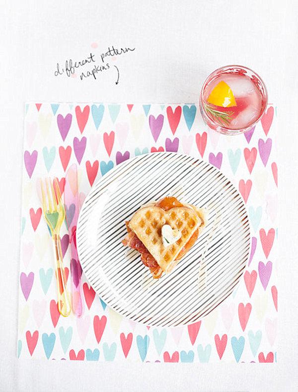 Valentine's Day heart napkin