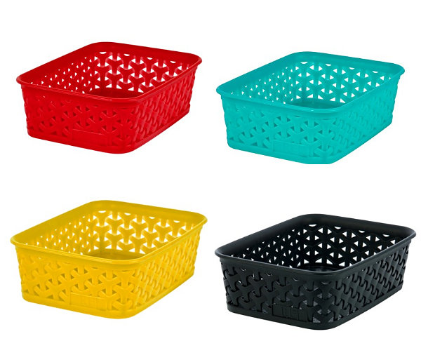 Vibrant storage baskets