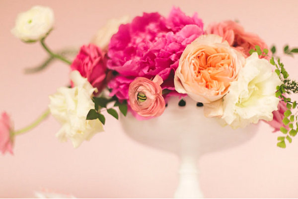 Vintage Valentines Day floral arrangement Valentines Day Party Ideas That Celebrate Great Design