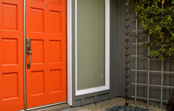 Vivid orange door