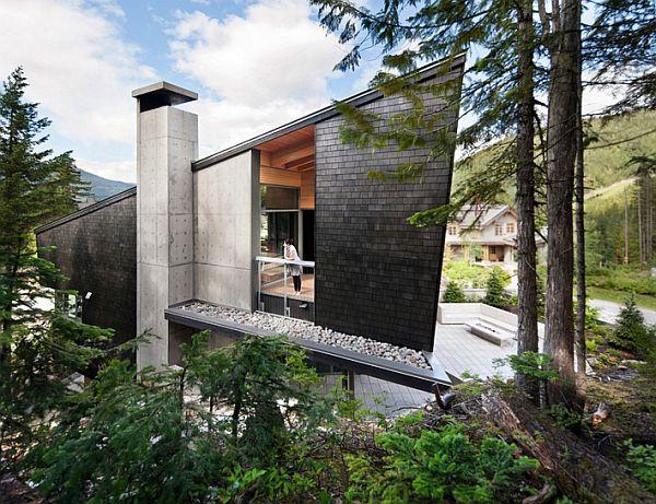 Whistler Residence - concrete walls
