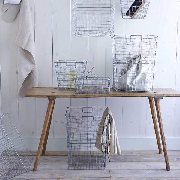 Wire mesh storage options