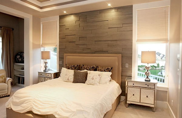 Bedroom accent walls to keep boredom away for Wood wallpaper bedroom