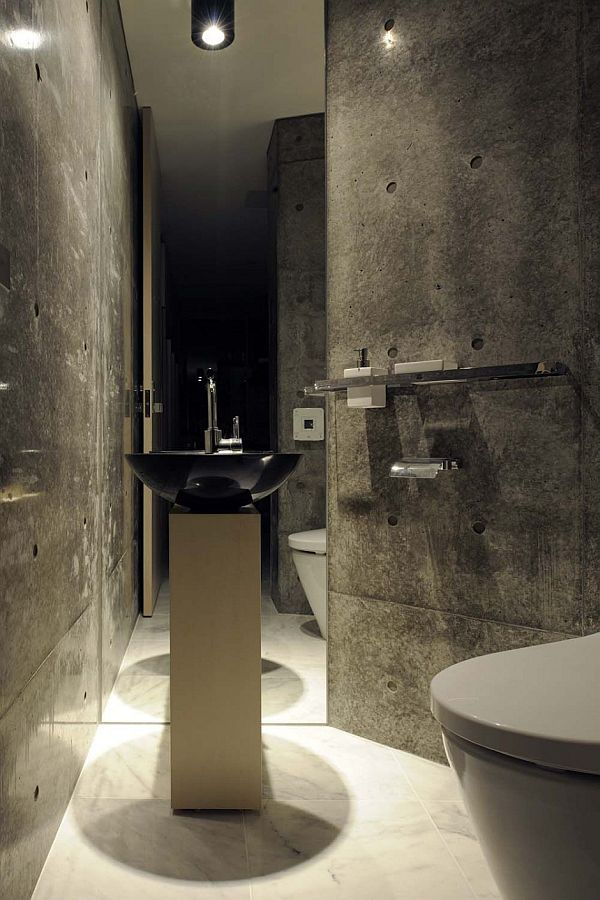 View In Gallery Bathroom Concrete Walls