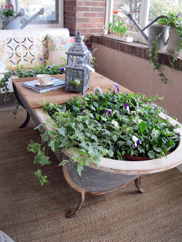 bathtub planter