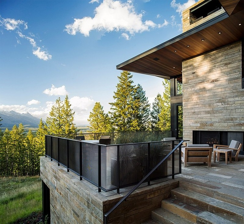 beautiful mountain house