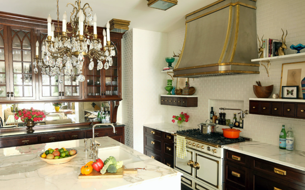 brass kitchen accents