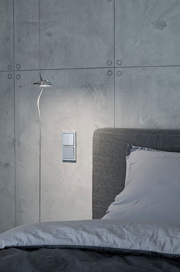 concrete interior design - bedroom wall