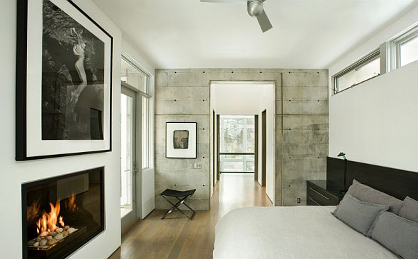 concrete walls - bedroom