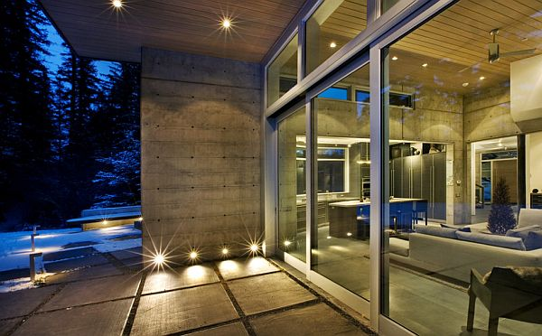 concrete walls - mountain home