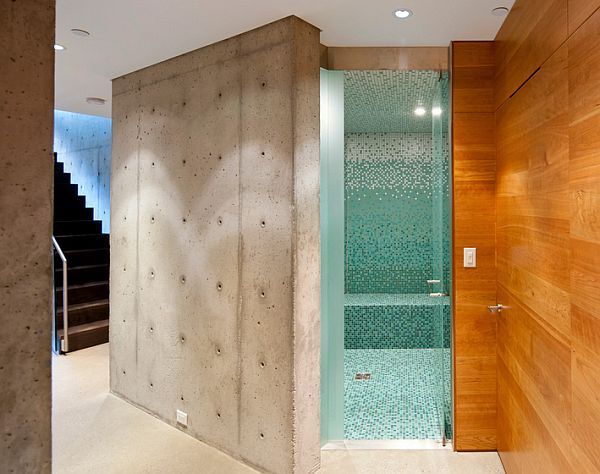 cool concrete walls and wood