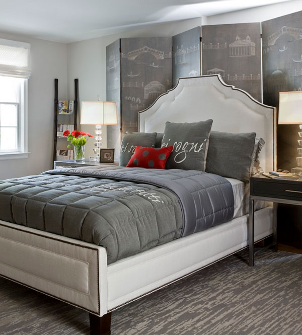Grey Bedroom Decorating: Red And White Bedrooms Perfect For Valentine's Day