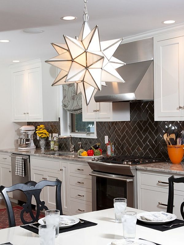dark kitchen tiles backslash