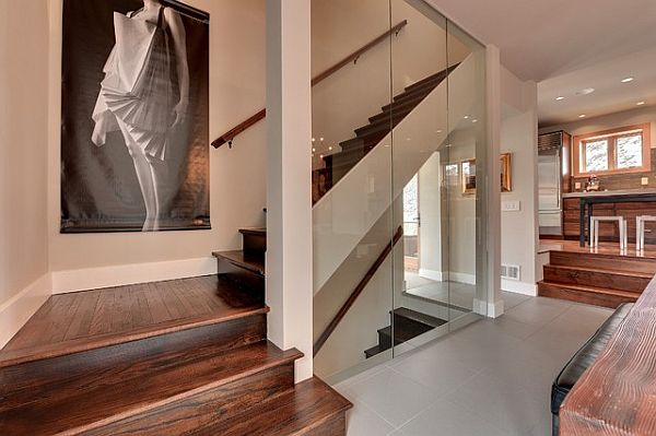 dark modern staircase tiles