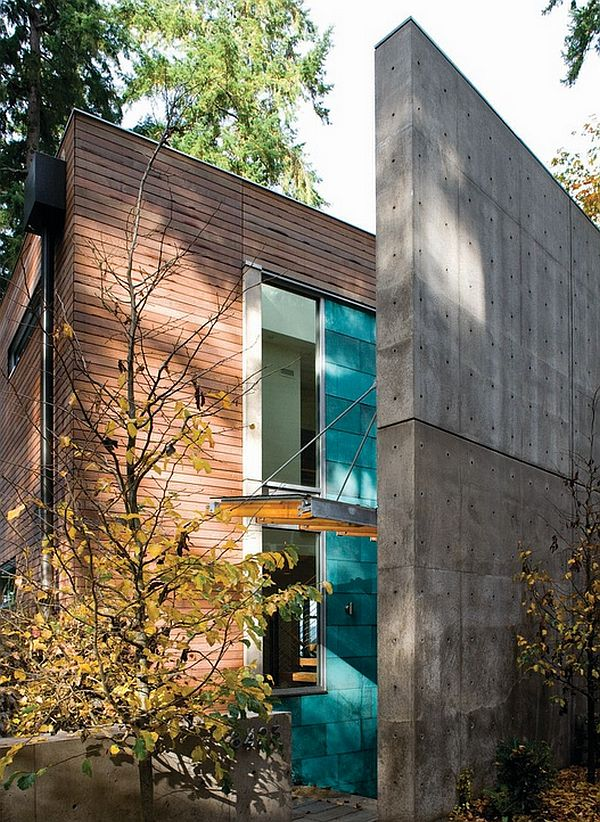 dorsey house - concrete walls