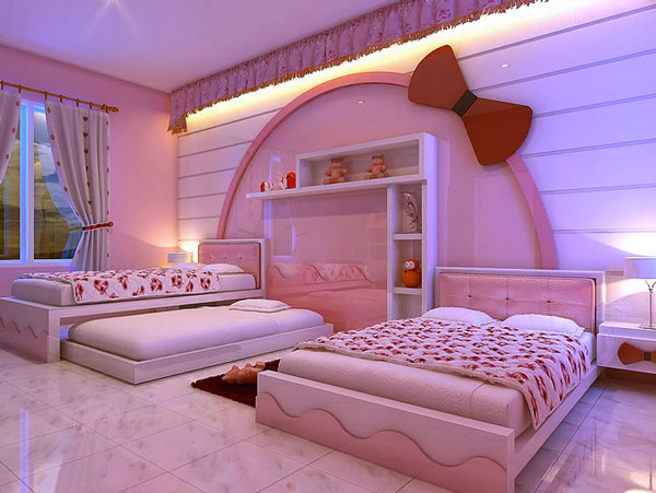 Hello kitty girls room designs for Dream bedroom designs