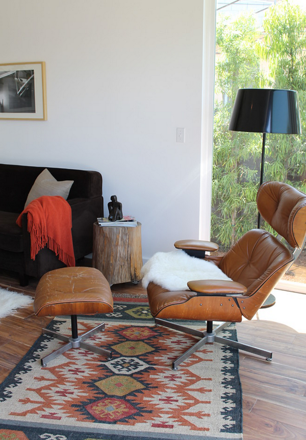 View In Gallery Eames Chair Kilim Rug