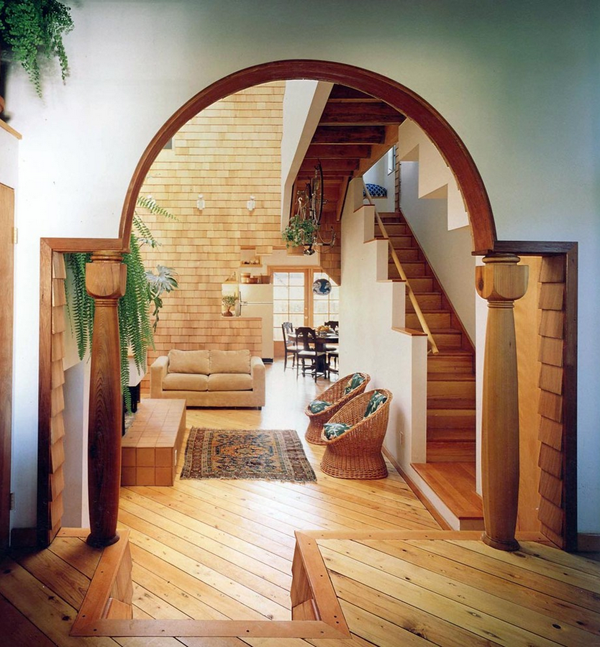 View In Gallery Earthy Natural Living Room Hanging Bike