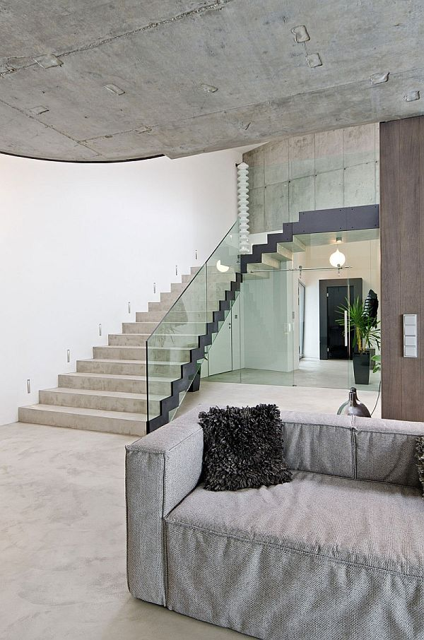 exposed concrete interior design