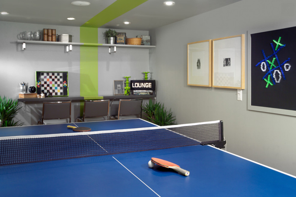 family game room ping pong table