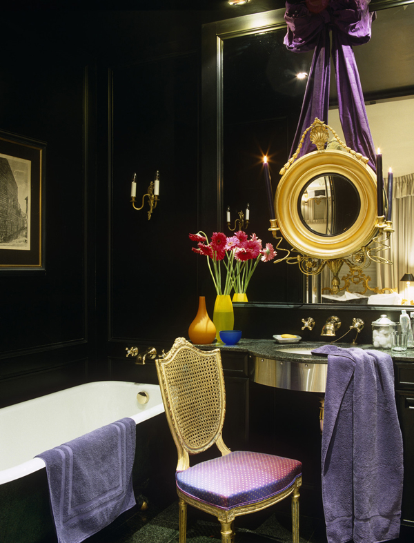 glam brass bathroom